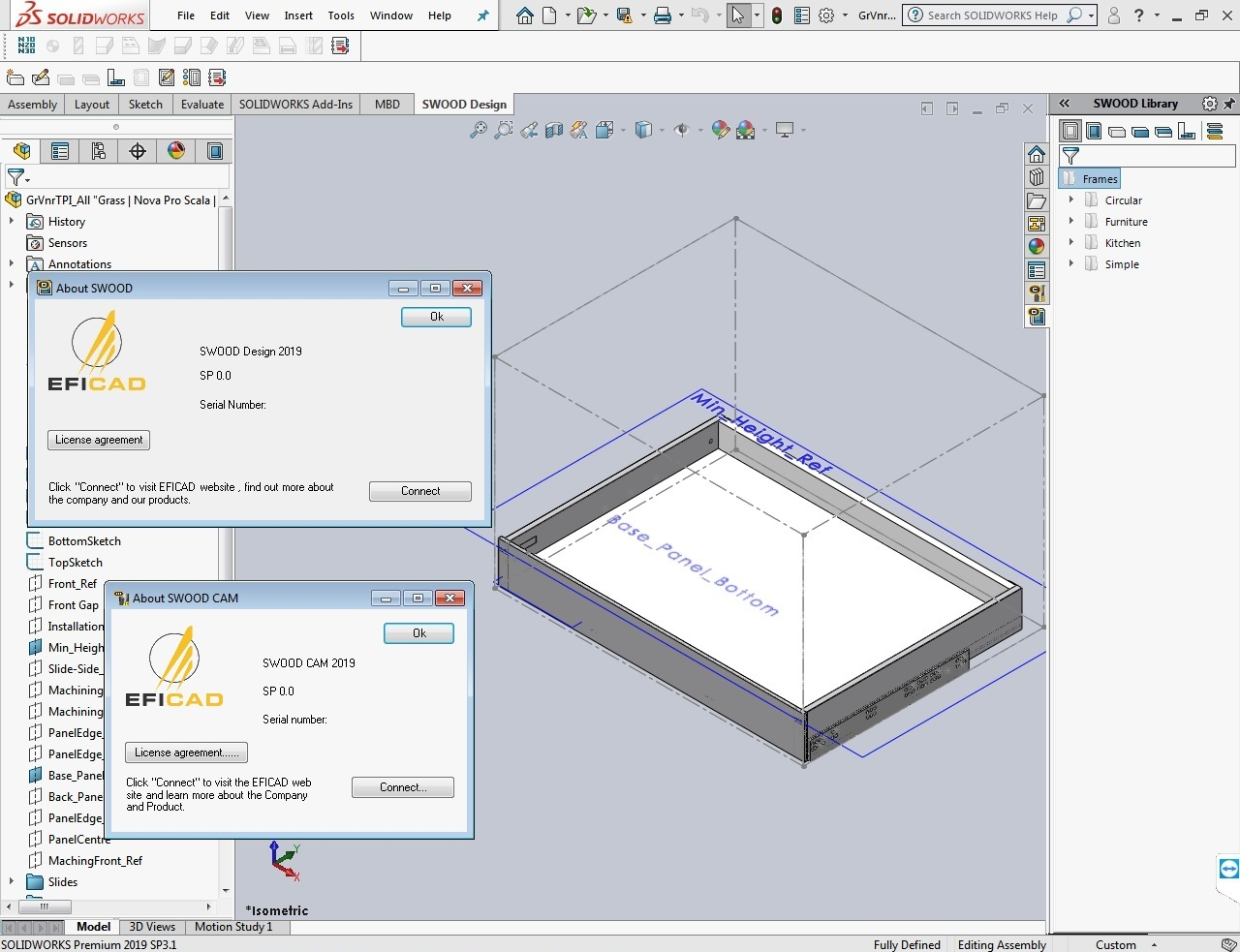 Download EFICAD SWOOD 2019 SP0 for SolidWorks 2010-2019 x64 full
