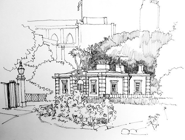 The North Gate Lodge, St George's Fields, Lambeth, London