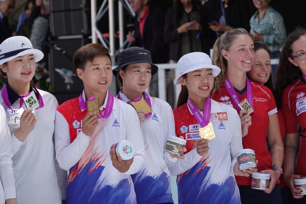 中華隊反曲弓女團擊敗南韓勇奪世錦賽金牌(協會提供)