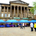 Stalls on the Flag Market at Preston, unusual for a Monday