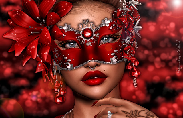 Masquerade! Every face a different shade.