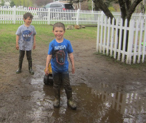 boys in mud