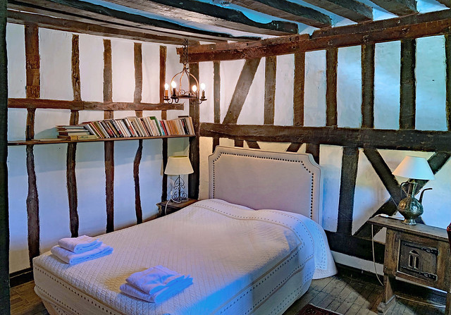 Hotel Rooms. France. Moulin d'Andé (Eure). A very Romantic Room.