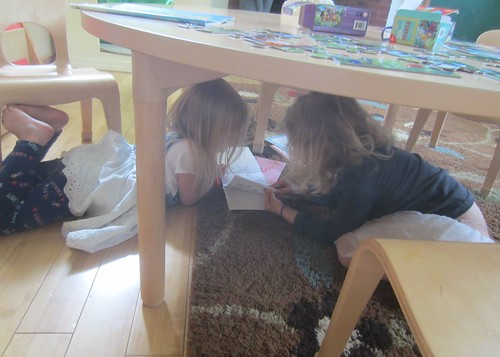 reading under the table