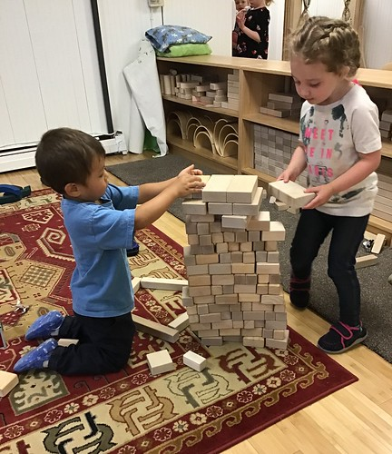 block wall building team