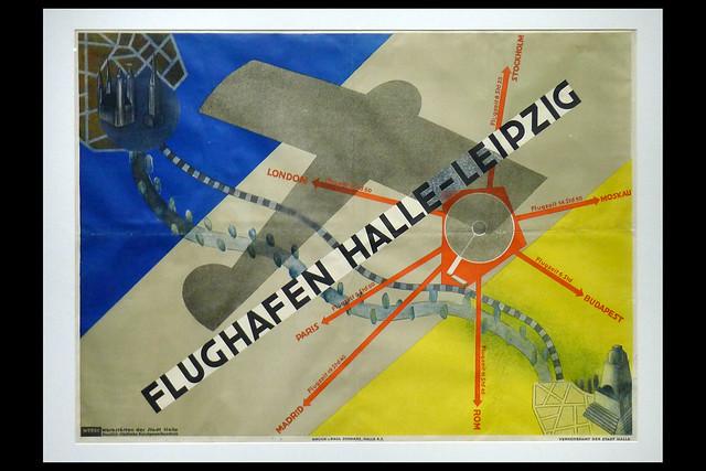poster vliegveld halle-leipzig 01 1930 hahs e (boijmans rotterdam 2019)