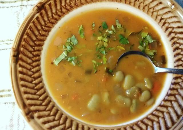 6-11. Sweet Potato Lima Bean Soup