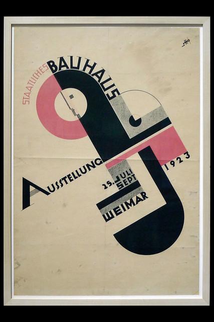 poster staatliches bauhaus ausstelling 01 1923 schmidt j (boijmans rotterdam 2019)