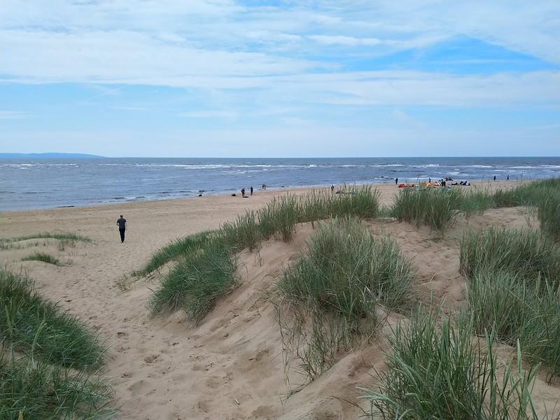 Strand op de terugweg