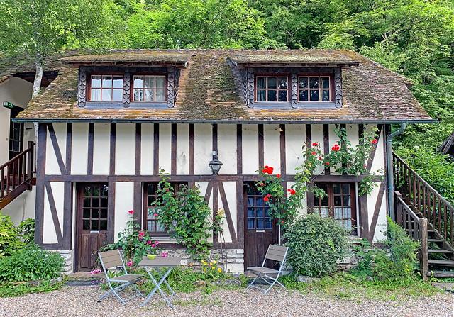 France. Le Moulin d'Andé (Eure). A Romantic Place.