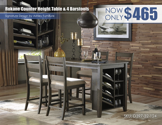 Rokane Counter Height Table & 4 Barstools_D397-32-124(4)