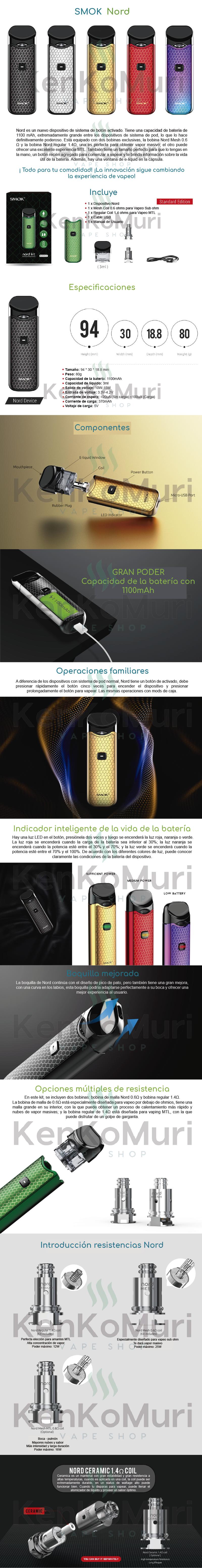 cigarroelectronico-vapeador-smok-nord-mexico-kenkomuri