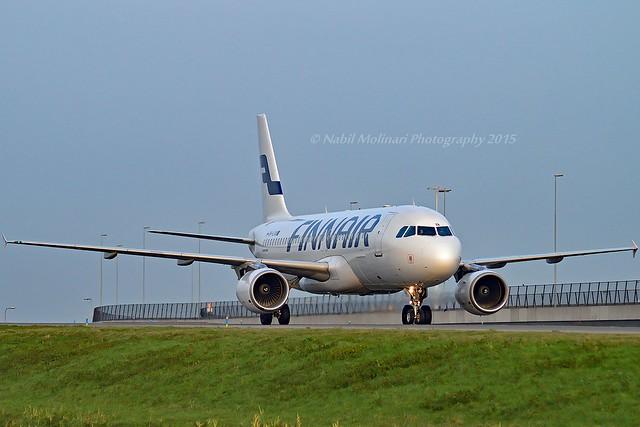 Finnair OH-LXA Airbus A320-214 cn/1405 @ Taxiway Q EHAM / AMS 28-12-2015