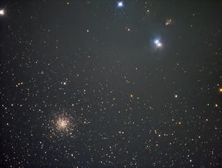 NGC6729, NGC6726, NGC6723 in Corona Australis