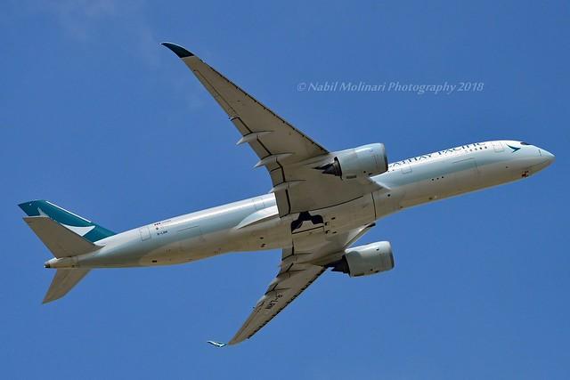 Cathay Pacific B-LRN Airbus A350-941 cn/085 @ EGKK / LGW 28-05-2018