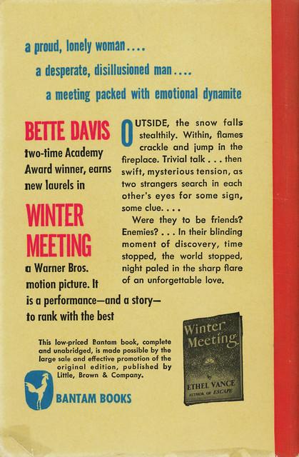 Bantam Books 400 - Ethel Vance - Winter Meeting (back)