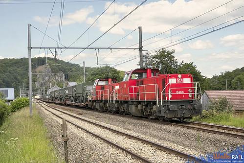 6466 + 6516 . DB Cargo . Z 41584 . Bomal . 17.06.19.