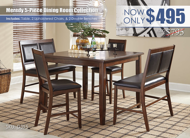 Meredy 5-PC Dining Room Set_D395-323-R400791