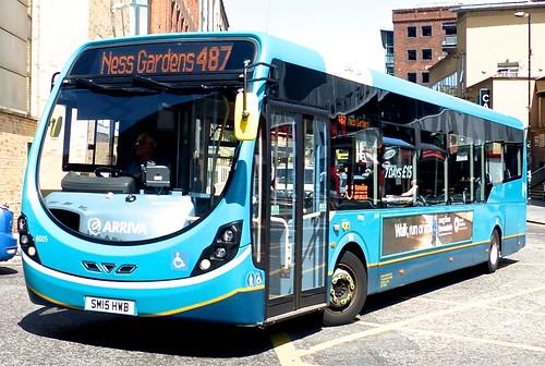 SM15 HWB 'ARRIVA Merseyside' No. 6005. Wright Streetlite D/F on Dennis Basford's railsroadsrunways.blogspot.co.uk'
