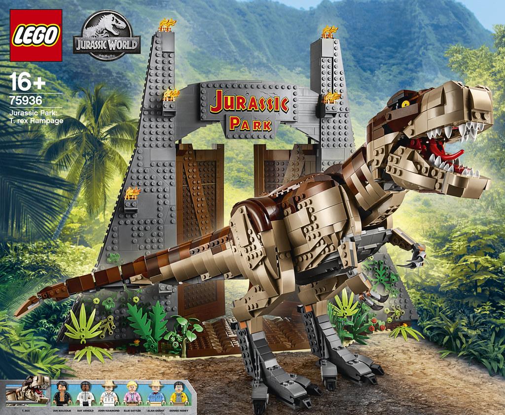 Review 75936 Jurassic Park T Rex Rampage Brickset Lego Set