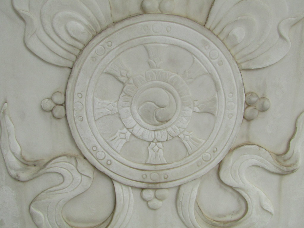 a fragment of decoration ( marble )