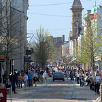 Busy Fishergate in Preston