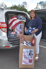 Rep. Haines collected used and worn American Flags in East Hampton and East Haddam for proper retirement