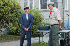 Rep. Ackert attends the Coventry flag retirement ceremony