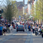 Busy main street in Preston
