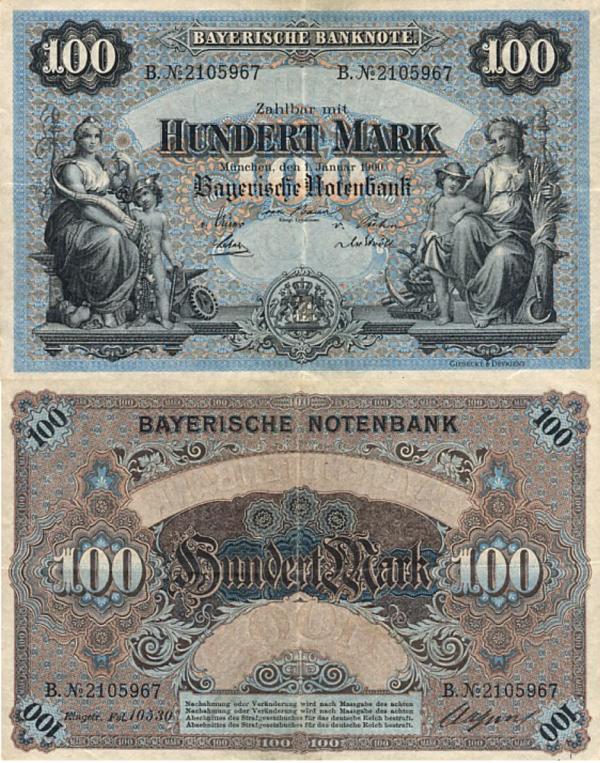 100 Mariek Bavorsko (Nemecko) 1900, R03
