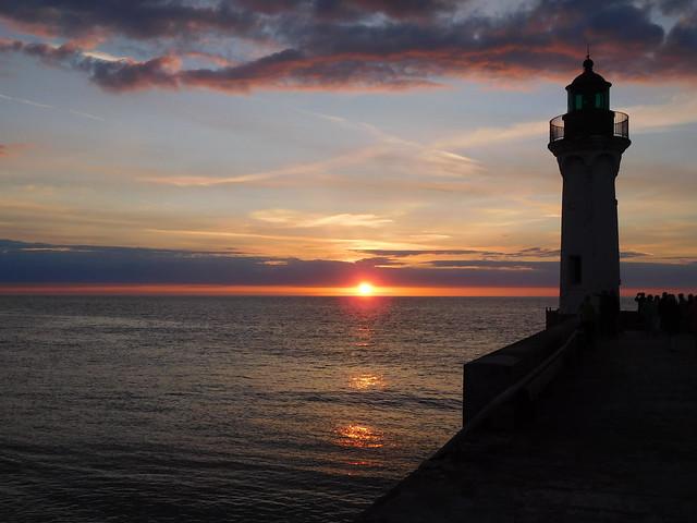 Sunset at Lighthouse Saint Valery en Caux