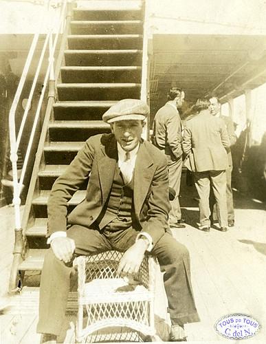 """1930 - Balito a bordo del vapor """"Veendam"""""""