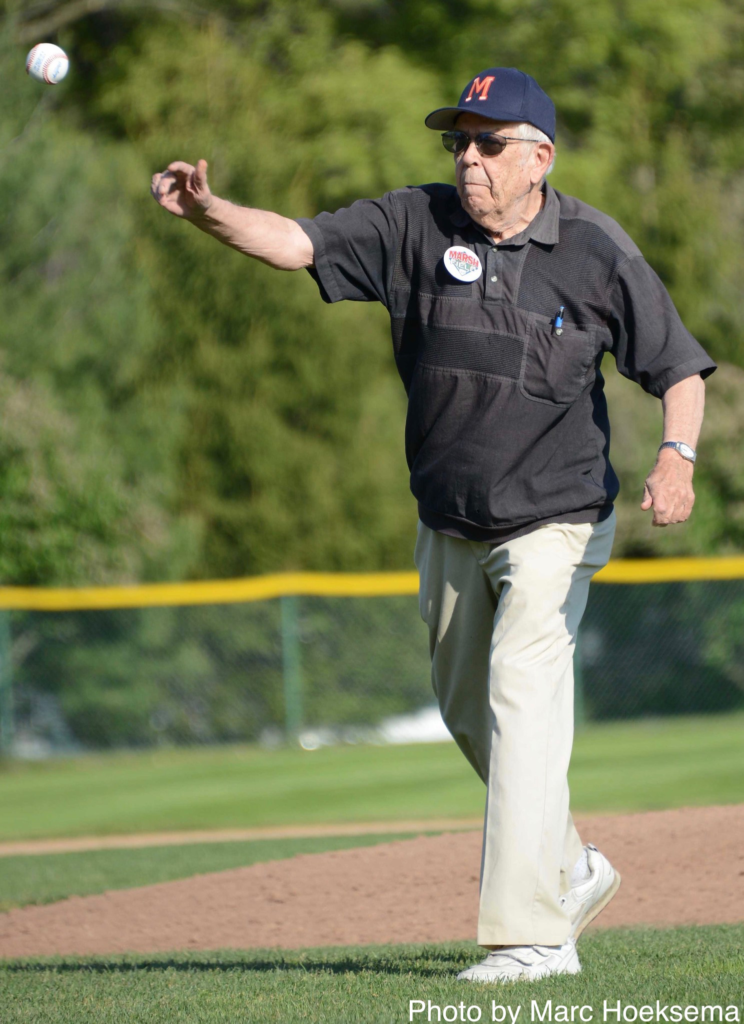 dcd287948e7 Last month I wrote an obituary/tribute for Marc Okkonen (that's him at  right, throwing out the first pitch at the 2016 home opener of his hometown  Muskegon ...