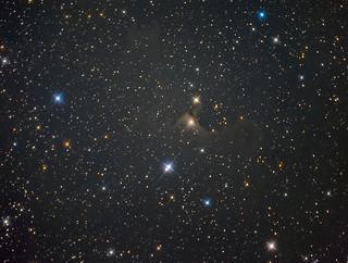 Vdb141 - Sh2-136 - the Ghost nebulae