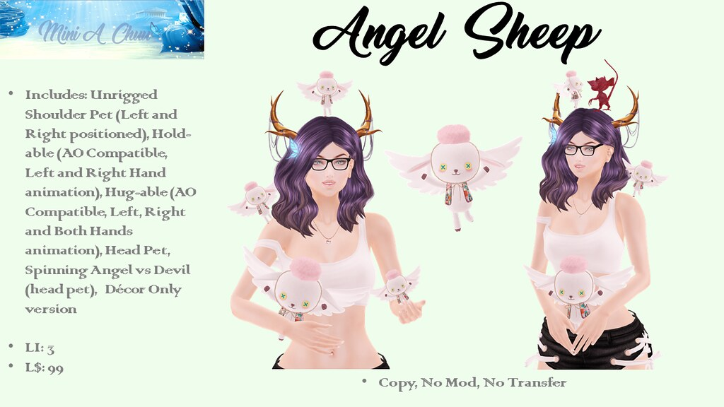 Mini A Chuu - Angel Sheep - TeleportHub.com Live!