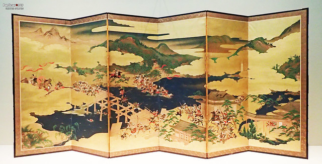 Tale of the Heike, chapter 4, Battle of Uji Bridge, Japan, Edo period, 17th century
