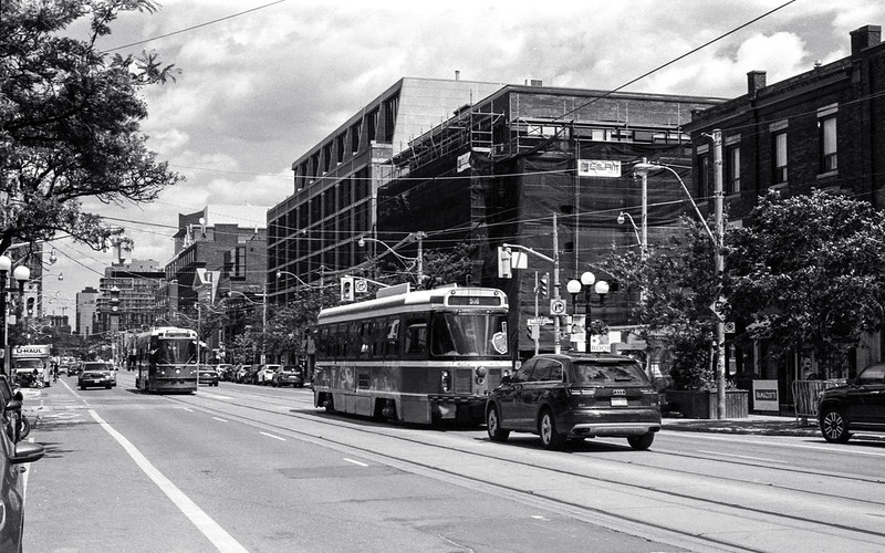 Two Streetcars in the Afternoon