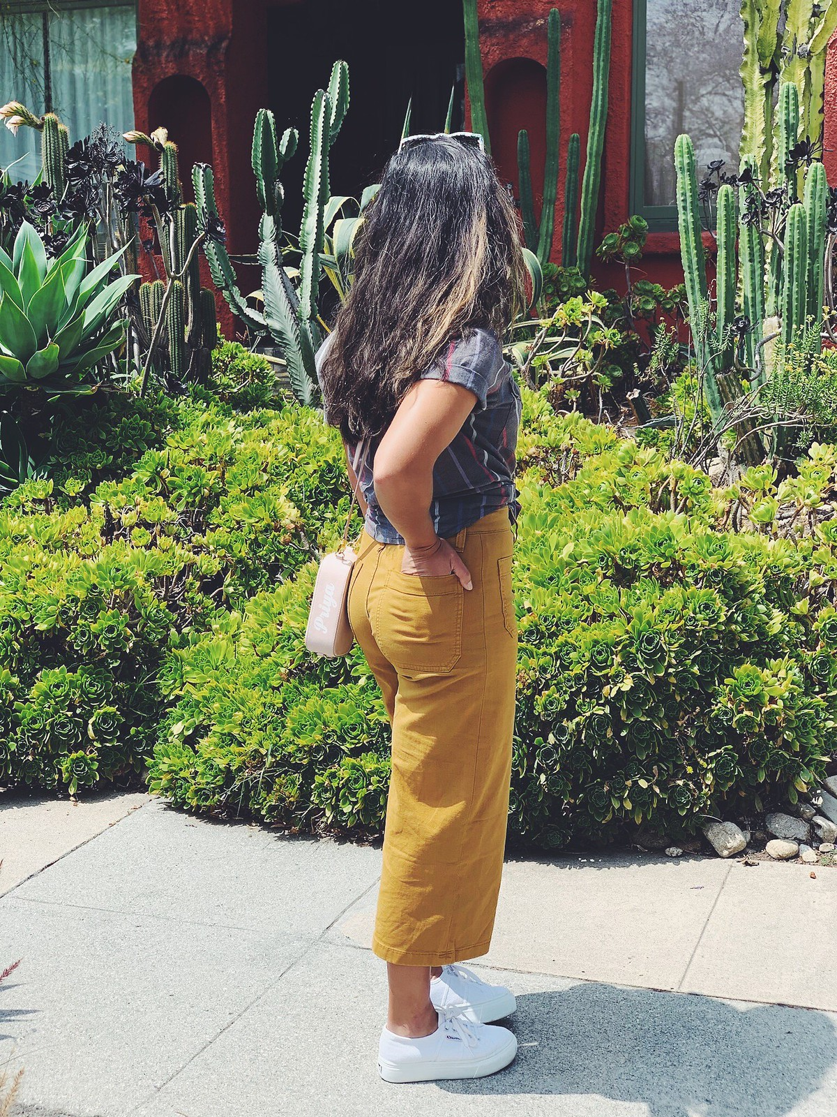 Priya the Blog, Nashville fashion blog, Nashville fashion blogger, Nashville style blog, Nashville style blogger, J. Crew Point Sur Crops, platform Supergas, Summer outfit, Summer outfit in LA, ColourPop LA Lady, casual Summer outfit