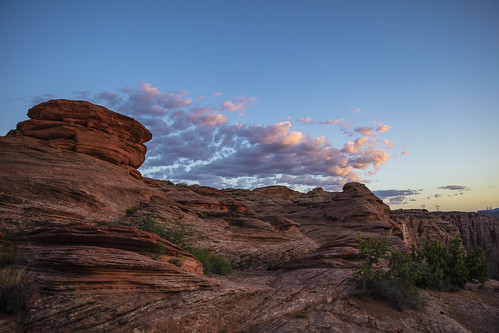 canon5dsr landscape rock rockformations sky clouds sunset nature outdoors blue outside arizona usa glencanyon