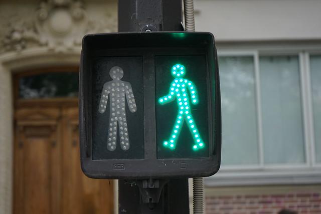 Pariser Fußgängerampel