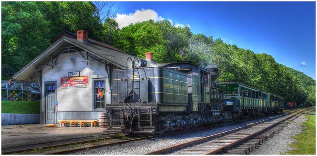 Durbin & Greenbrier Railroad series of photos