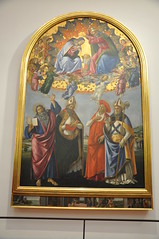 Coronation of the Virgin with Angels and St. John the Evangelist, St. Augustine, St. Jerome, and St. Eligius