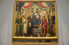 Madonna and Child Enthroned with St. Catherine of Alexandria, St. Augustine, St. Barnabas, St. John the Baptist, St. Ignatius of Antioch, and St. Michael the Archangel