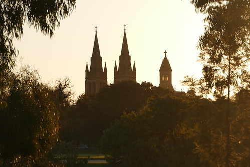 spires stpetersanglicancathedral sunset adelaide southaustralia