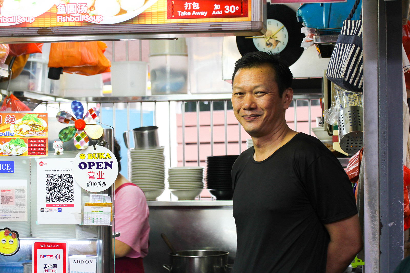 Adam Road Food Centre - Adam Fishball Noodles