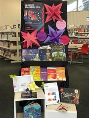 Matariki book display, Redwood Library