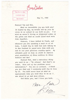 Letter from Eva Gabor to Thea and Robert Muldoon, 1982