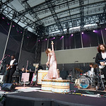 Sat, 15/06/2019 - 6:24pm - Live on WFUV Radio, Jenny Lewis and her band at Forest Hills Stadium in Queens, NY on June 15, 2019. Photo by Gus Philippas/WFUV