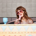Sat, 15/06/2019 - 6:18pm - Live on WFUV Radio, Jenny Lewis and her band at Forest Hills Stadium in Queens, NY on June 15, 2019. Photo by Gus Philippas/WFUV