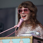 Sat, 15/06/2019 - 6:22am - Live on WFUV Radio, Jenny Lewis and her band at Forest Hills Stadium in Queens, NY on June 15, 2019. Photo by Gus Philippas/WFUV